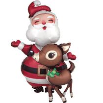 Christmas Santa & Reindeer Airwalker Foil Balloon