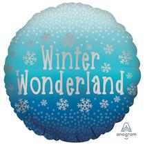 """Christmas Satin Luxe Winter Wonderland 18"""" Foil Balloon"""