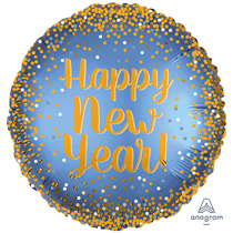 "Satin Luxe Happy New Year 18"" Foil Balloon"