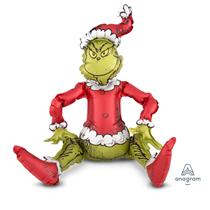 Christmas Sitting Grinch Multi Foil Balloon