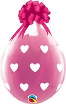 """Big Hearts 18"""" Latex Stuffing Balloons 25pk"""
