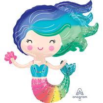"""Colourful Mermaid 30"""" Foil Balloon"""