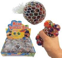 Rainbow Squishy Mesh Balls 12pk Display Box