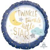 """Twinkle Little Star Satin Luxe 18"""" Foil Balloon"""