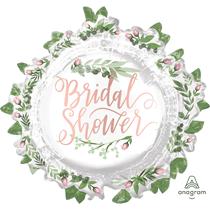 """Bridal Shower Leaves 30"""" Foil Balloon"""
