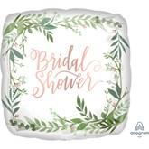 "Bridal Shower 18"" Square Foil Balloon"