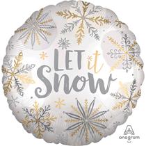 "Christmas Let It Snow Satin Luxe 18"" Foil Balloon"