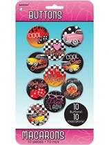 50s Rock & Roll Badges 10pk