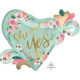 """She Said Yes 26"""" Satin Luxe Foil Balloon"""