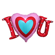 "Satin Luxe Heart I Love You 33"" Foil Balloon"
