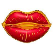 "Satin Luxe Sangria Lips 31"" Foil Balloon"