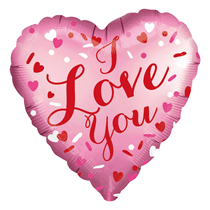 """Satin Luxe Love You Pink 18"""" Heart Foil"""