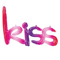Ombre Kiss Phrase Script Foil Balloon