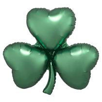 "Satin Luxe Emerald 29"" Shamrock Foil Balloon"