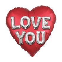 "Satin Luxe Love You Jumbo Letters 28"" Foil Balloon"