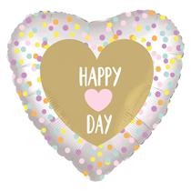 """Happy Heart Day 18"""" Heart Foil Balloon"""