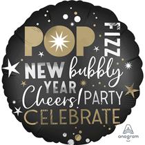 """New Year Satin Luxe 18"""" Foil Balloon"""
