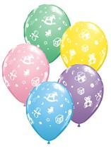 "11"" Assorted Nursery Print Latex Balloons - 25pk"