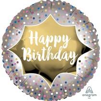 """Happy Birthday Satin Luxe 18"""" Foil Balloon"""