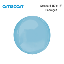 """Pastel Blue 15"""" Orbz Foil Balloon (Pkgd)"""