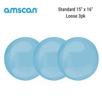 "Pastel Blue 15"" Orbz Foil Balloon 3pk"