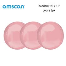 "Pastel Pink 15"" Orbz Foil Balloons 3pk"