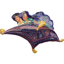 "Aladdin & Jasmine Carpet Ride Foil 42"" SuperShape Balloon"