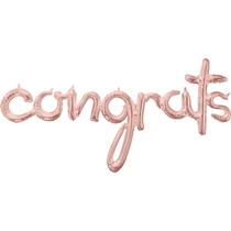 "Rose Gold Congrats Script 56"" Foil Balloon"