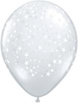 "Diamond Clear Stars 5"" Latex Balloons 100pk"