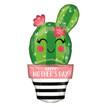 """Happy Mother's Day Cactus 35"""" SuperShape Foil Balloon"""