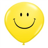 "16"" Yellow Smiley Face Latex Balloons - 50pk"