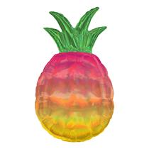 """Iridescent Pineapple 31"""" Foil SuperShape Balloon"""