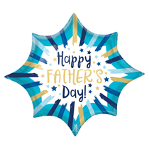 """Happy Father's Day Stripes 35"""" Foil SuperShape Balloon"""