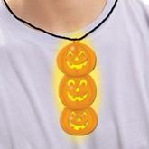 Glow in the Dark Halloween Pumpkin Necklace