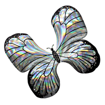 Iridescent Butterfly SuperShape Foil Balloon