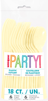 Ivory Assorted Plastic Cutlery 18pk