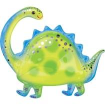 """Brontosaurus Dinosaur 32"""" SuperShape Foil Balloon"""