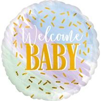 "Welcome Baby Watercolour 18"" Foil Balloon"