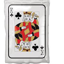 Casino Playing Card Ace & King Shape Foil Balloon