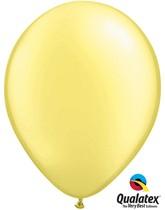 "11"" Lemon Chiffon Pearl Balloons - 25pk"