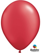 """Pearl Ruby Red 11"""" Latex Balloons 25pk"""