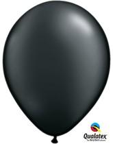 "11"" Onyx Black Pearl Latex Balloons - 25pk"