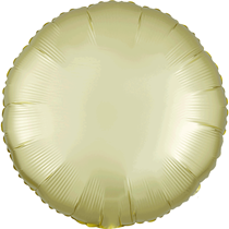 Satin Luxe Pastel Yellow Circle Foil Balloon