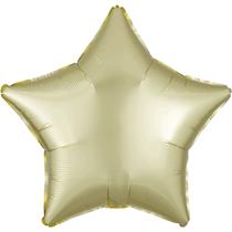 Satin Luxe Pastel Yellow Star Foil Balloon
