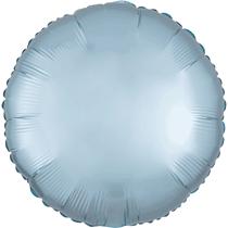 Satin Luxe Pastel Blue Circle Foil Balloon