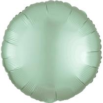 Satin Luxe Pastel Mint Green Circle Foil Balloon