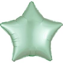 Satin Luxe Pastel Mint Green Star Foil Balloon