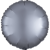 Satin Luxe Pastel Graphite Circle Foil Balloon