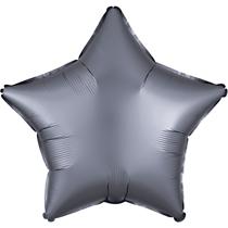 Satin Luxe Pastel Graphite Star Foil Balloon