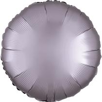 Satin Luxe Pastel Greige Circle Foil Balloon
